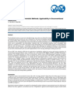 SPE-164820-MS - Probabilistic and Deterministic Methods Applicability in Unconventional Reservoirs