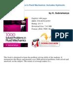 1000 Solved Problems in Fluid k Subram 20347920