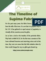 The Timeline of Supima Fabrics