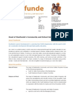 2015 07 Masifunde Vacancy Head of Community and School Safety Projects
