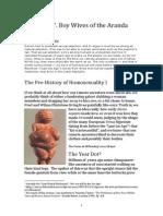 NHH 07 Boy Wives of the Aranda - The Pre-History of Homosexuality I