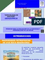 Técnicas Para La Evaluación de La Porosidad y Permeabilidad de Las Rocas