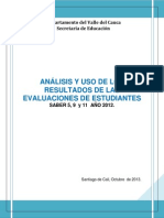 Informe Sed Pruebas Saber 2012 Oct 2013