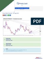 Forex Daily Forecast 07 Aug 2015 Bluemaxcapital