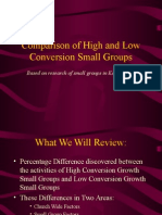 High and Low Conversion Percentages