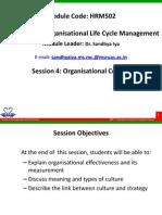 HRM502 4 Organisational Culture
