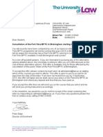Cancellation Offer Letter