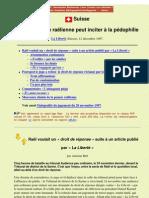 La Doctrine de La Secte Rael Peut Inciter a La Pedophilie