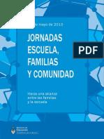 JORNADAS Escuela, Familias y Comunidad