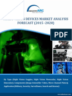Night Vision device market estimated to grow from $13.2 billion in 2014 and exhibit growth of 7% through 2020