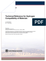 Technical reference for Hydrogen Compatibility of materials