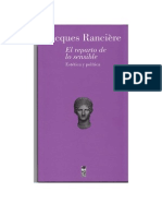 Ranciere, Jacques, El Reparto de Lo Sensible