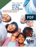 EdSource Middle School Study - Narrative Summary