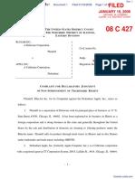 BlueAir Inc. v. Apple, Inc. - Document No. 1