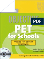 Objective PET for Schools Practice Test Booklet