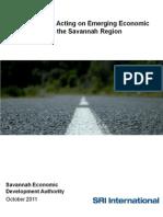 SEDA study - region's economic opportunities