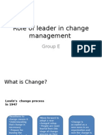 Leader's Role in Change Management