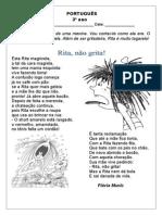 Ficha Livro Rita Não Grita