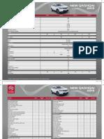 Ficha Técnica New Nissan Qashqai 2015 32x25