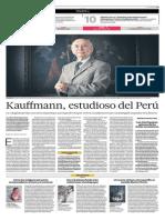 Kauffmann, Estudioso Del Perú