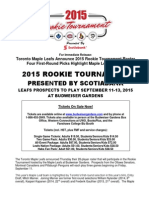 Toronto Maple Leafs Roster - Online Press Release - 2015 NHL Rookie Tournament
