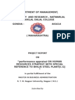 performance appraisal ON HUMAN RESOURCES STRATEGY WITH SPECIAL REFERENCE TO BHILAI STEEL PLANT[C.G].docx