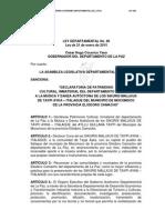Ley Departamental 080