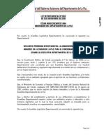 Ley Departamental 003