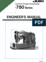 Instruction Manual Juki LBH-780