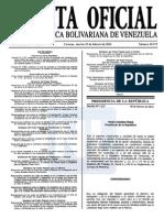Sumario Gaceta Oficial 39.372