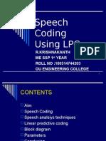 Speech Coding Using Lpc Seminar