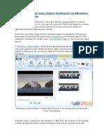 Aprenda a Editar Seus Vídeos Facilmente No Windows Live Movie Maker