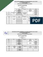 Horarios Ingeniería Mecatrónica Especialidad 2015 1