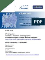 CSND'2010 2nd Symposium Swisstopo – EuroSDR