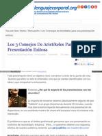 Lenguajecorporal Org Consejos Aristoteles Presentacio