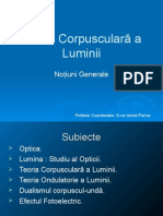 99701939 Teoria Corpusculara a Luminii