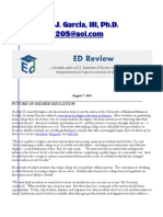 Margarito J. Garcia, III, Ph.D. - ED Review (080715)