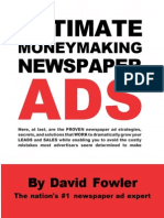David Fowler - Ultimate Moneymaking Newspaper Ads