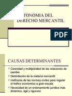 Autonomia Del Derecho Mercantil