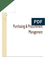 Purchasing Mgt