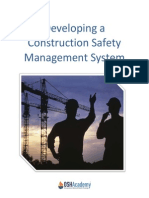 Developing a construction safety management system