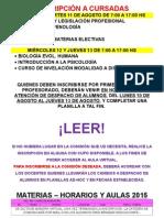 Materias Electivas Segundo Cuatrimestre y Seminarios 20151