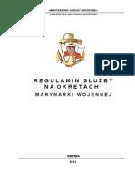 Regulamin Służby na okrętach Marynarki Wojennej (RSO)
