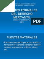 Fuentes Formales Derecho Mercantil