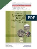 Geometric  Desing AASHTO