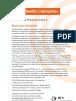 Delivering Healthy Communities GPN5 - RTPI UK - 2009