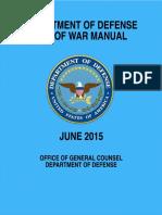 Law of War Manual - U.S. Defense Department, 2015