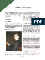 Vida y Obra de Robert de Montesquiou