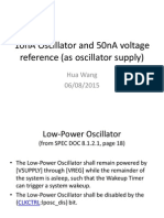low power oscillator and violtage reference