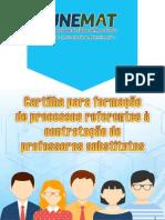 Cartilha Formacao de Professores 2015